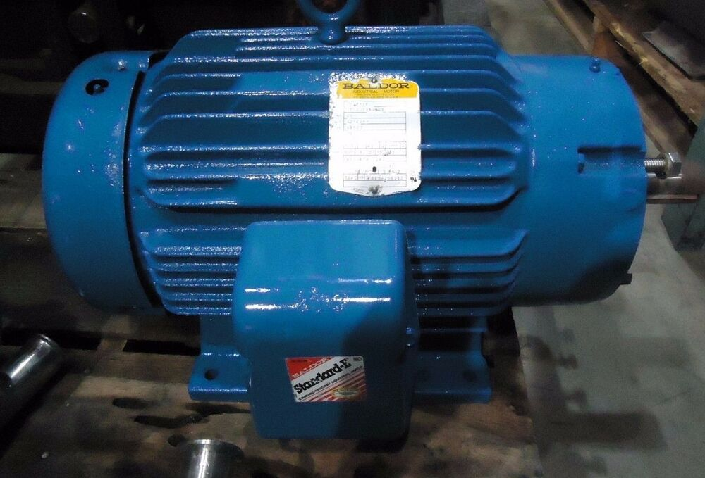 Baldor cm4106t motor frame 256tc 3 phase 3450rpm 20hp for 20 hp single phase motor