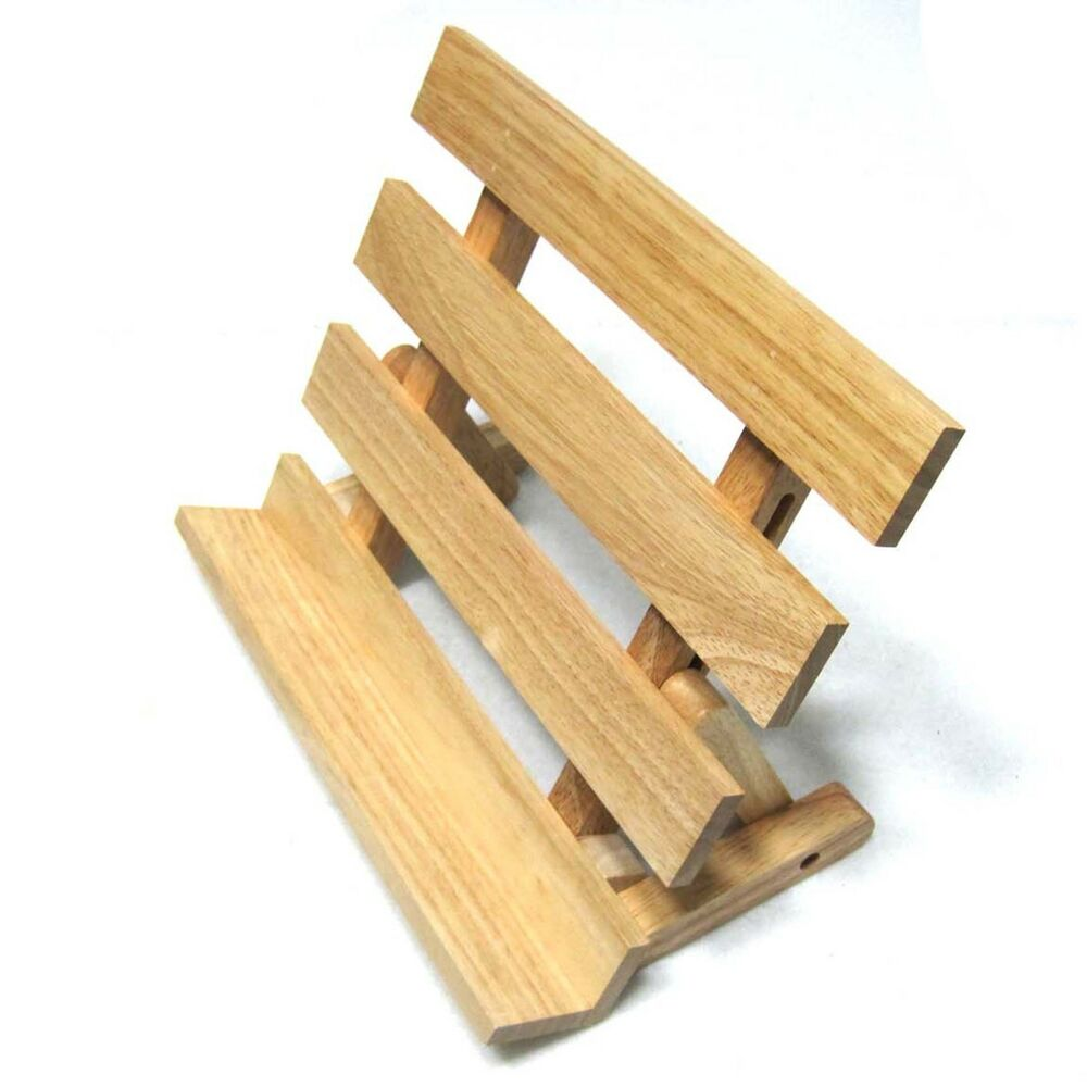 Eco Friendly Natrual Rubber Wood Book Stand Tiltable