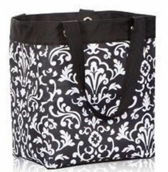 New Thirty One Essential Storage Utility Tote Bag In Black Parisian Pop 31 Gift Ebay