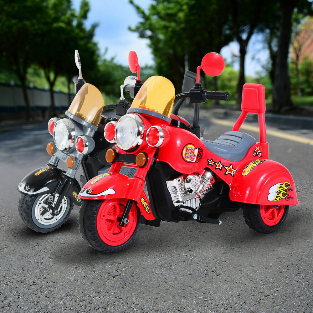 Battery Powered Ride On Toys For Toddlers >> Electric Kids Motorbike Ride On Retro Toy Car Battery ...