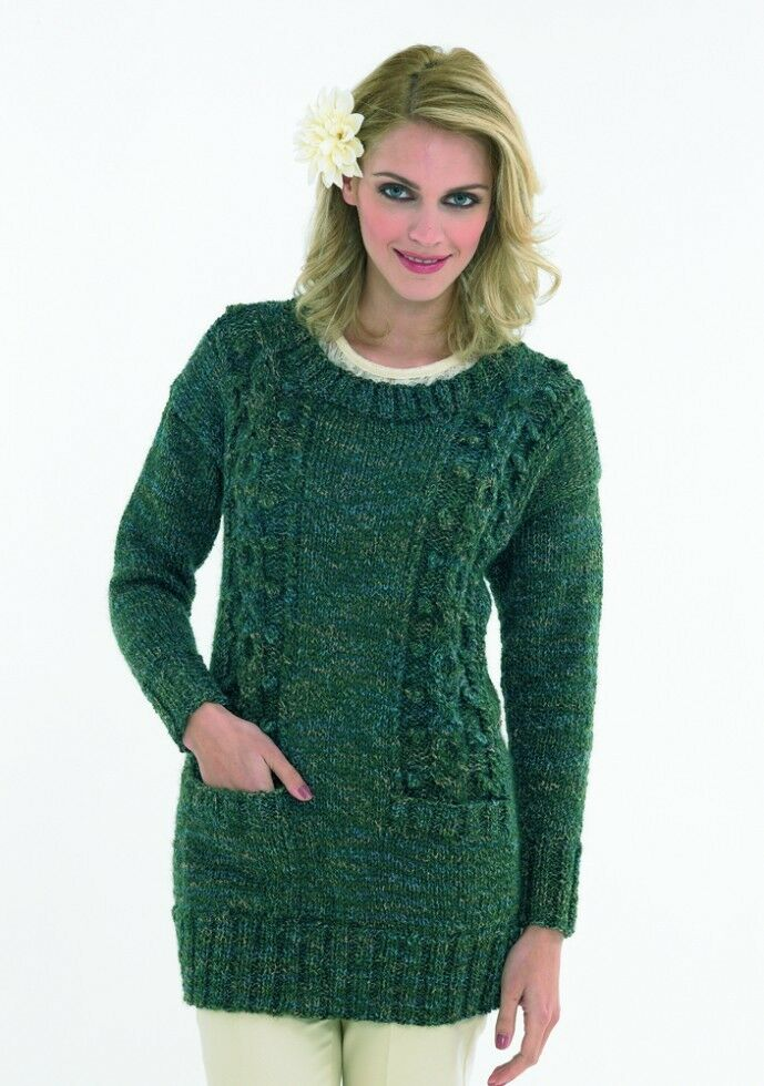 Free Knitting Pattern Ladies Chunky Jumper : Stylecraft Ladies Sweater Trendsetter Knitting Pattern 8641 Chunky (SCP-8641)...