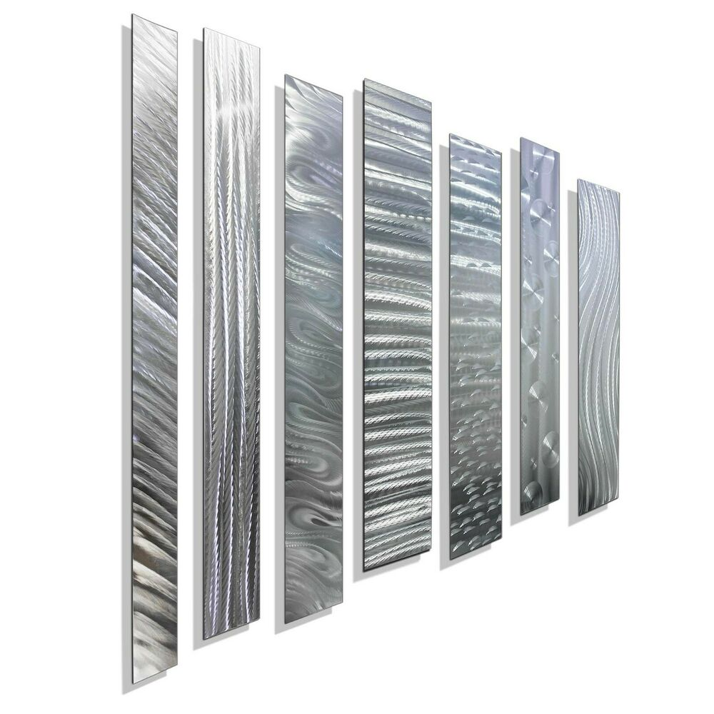 Metal Sculptures And Art Wall Decor: Silver Contemporary Metal Wall Art