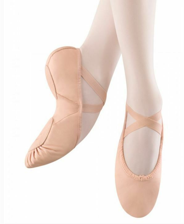 new bloch s0203g or l pink leather canvas insert soft