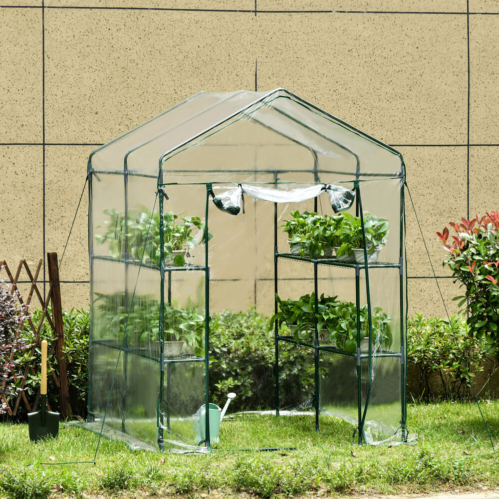 New 5'x5'x6' Portable Steeple Walk-In Shelves Plant Flower ...