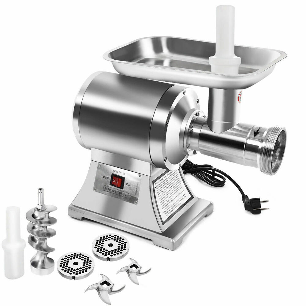 Commercial Electric Grinder Guards ~ Commercial grade hp electric meat grinder w stainless