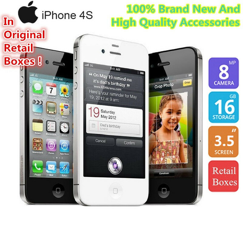 apple iphone 4s schwarz 16gb 8mp ios a ware 3g smartphone. Black Bedroom Furniture Sets. Home Design Ideas