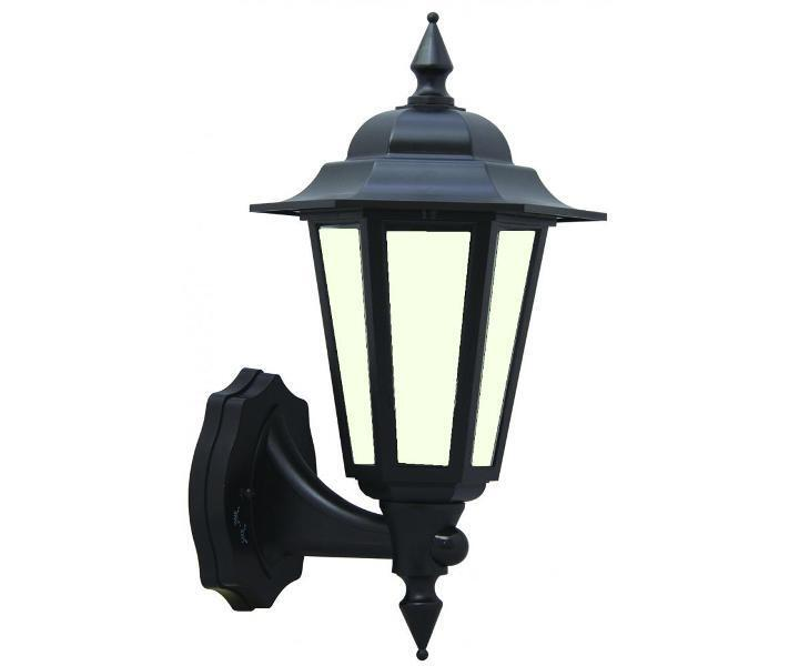 Victorian Style Black Outdoor Wall Light Lantern 7W LED
