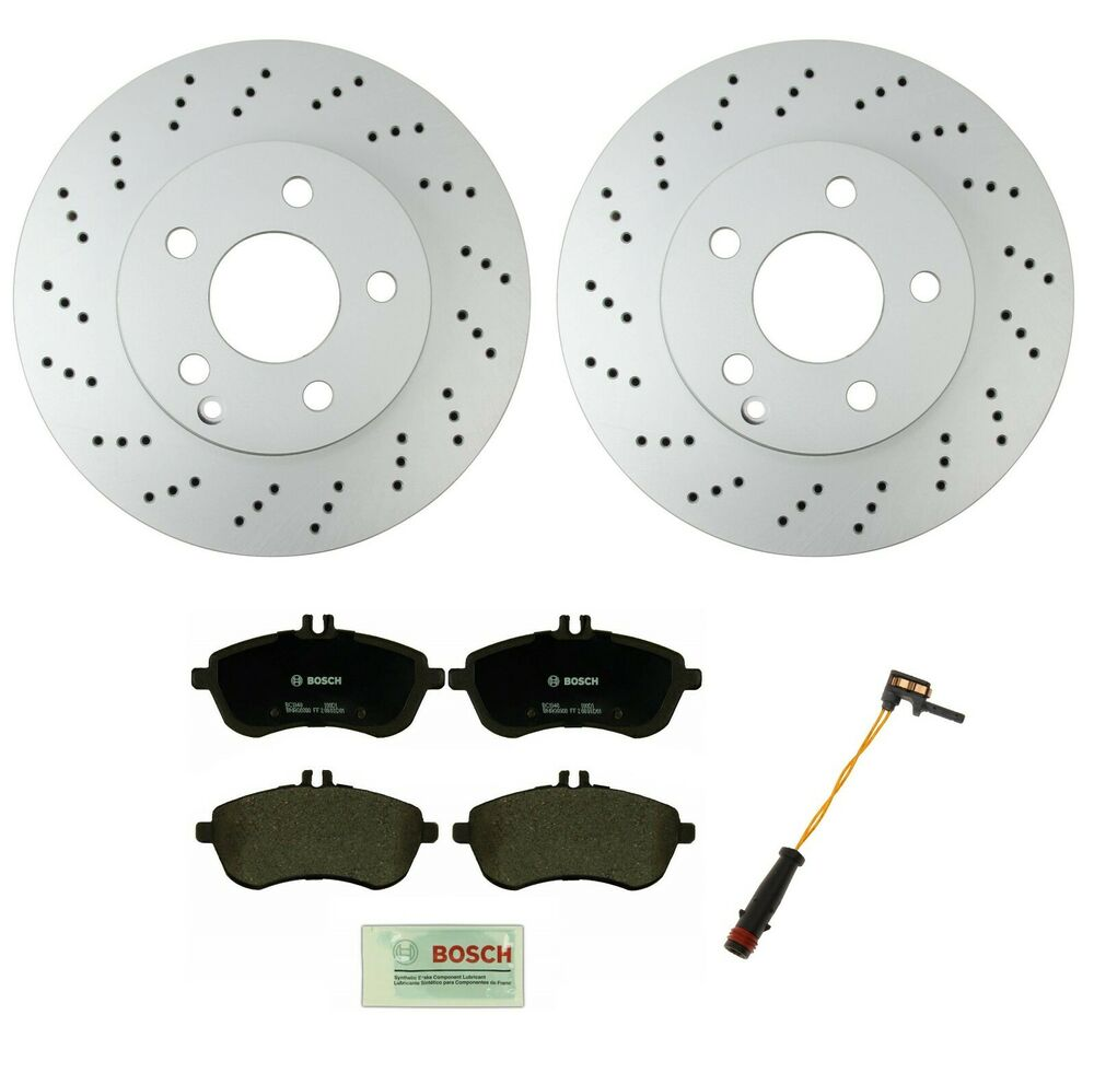Mercedes Benz Brake Pads And Rotors >> Mercedes W204 C300 Sport Sedan PREMIUM Front Brake KIT Rotors Pads Sensor | eBay