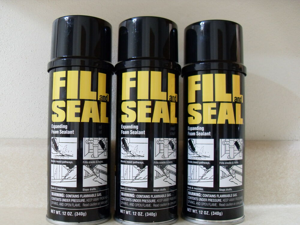 3 Cans Dow Fill And Seal Expanding Foam Sealant Insulation