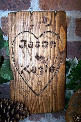 Personalized Couples Name Sign Custom Carved Wood Wedding