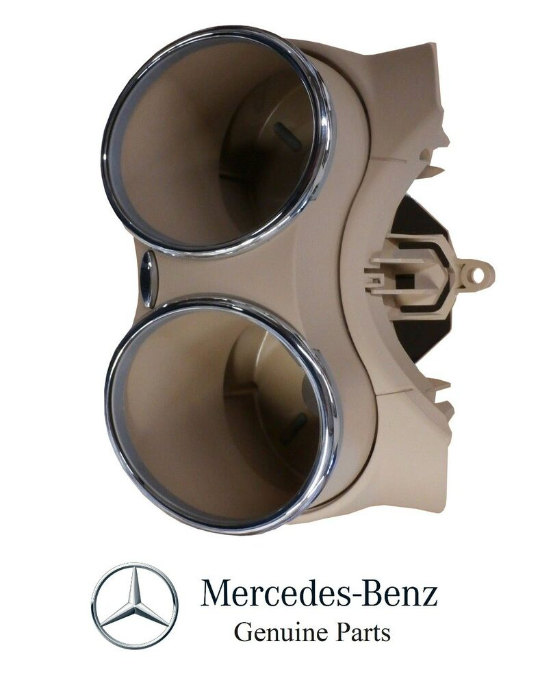 New mercedes cls buckskin bracket for cup holder 219 680 for 2006 mercedes benz cls500 cup holder