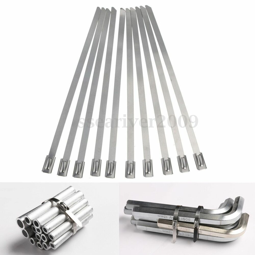 Stainless Steel Wire Ties : Pcs mm stainless steel metal cable wire ties zip tie