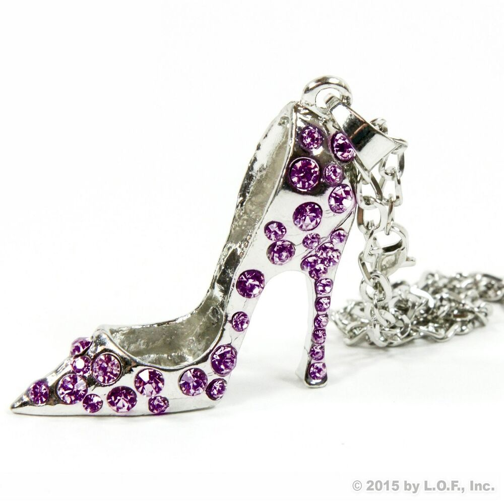 Silver High Heel Shoe Ornament