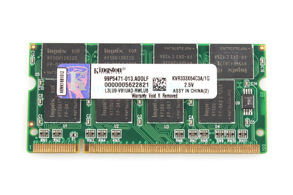 Samsung 1gb pc2700 ddr333 333mhz 1g 333 sodimm 200pin memory laptop notebook ram