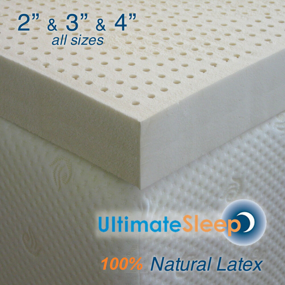 New Certified 100 Natural Dunlop Latex Mattress Pad