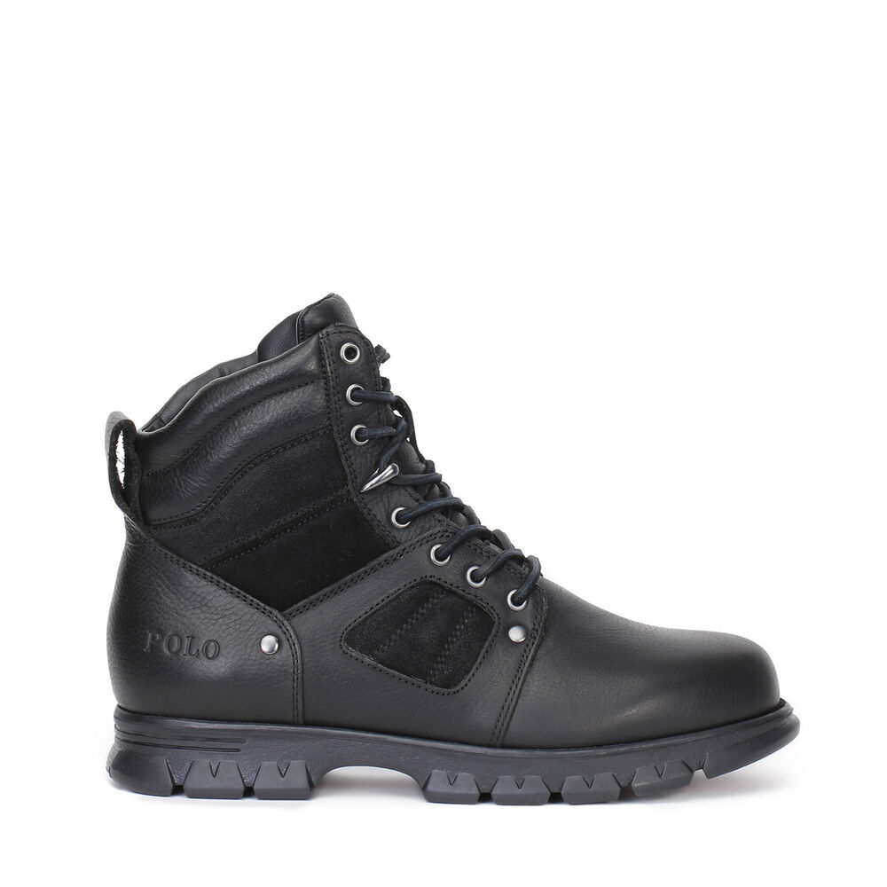 polo ralph mens casual boots diego black leather ebay