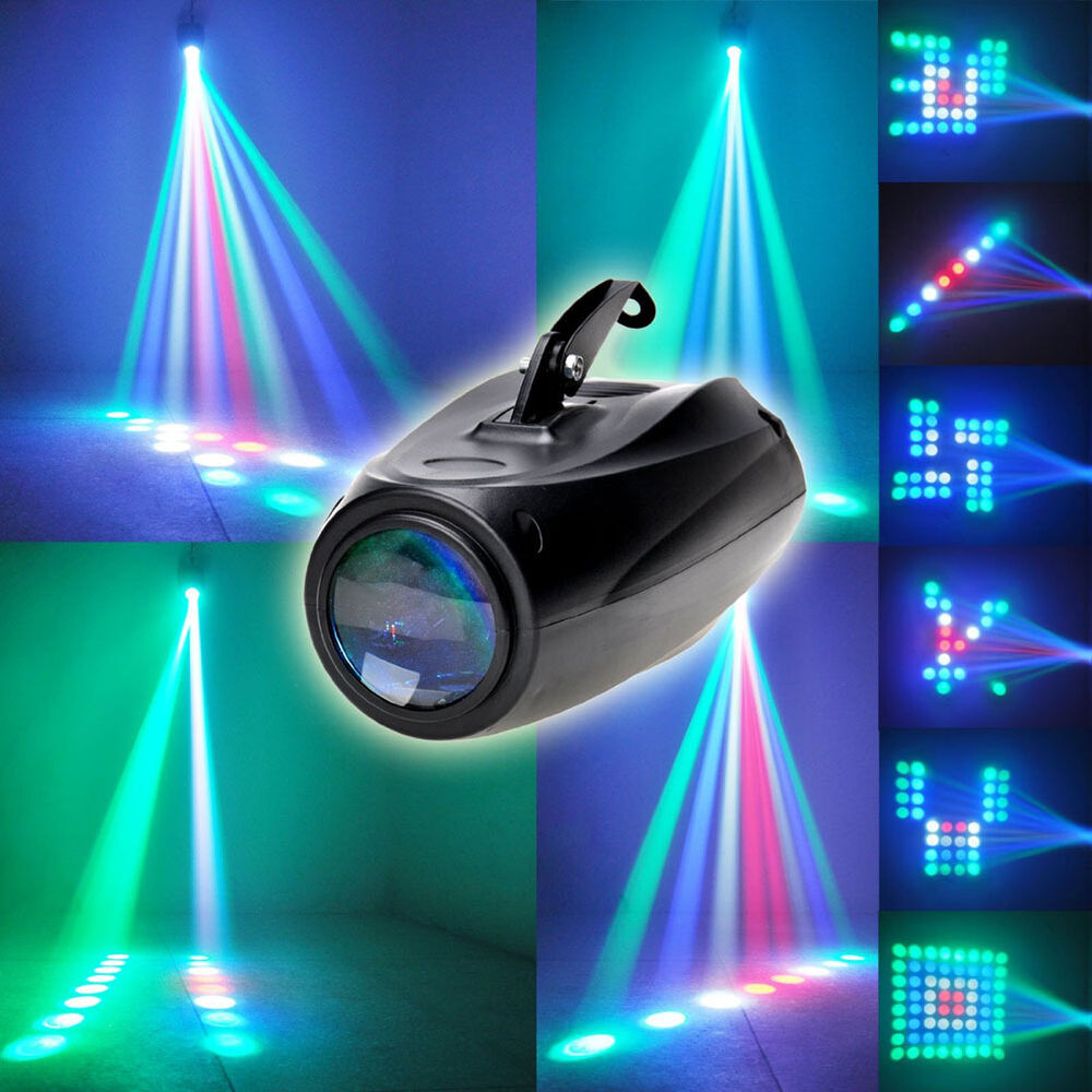 64 LED Laser Projector RGBW Stage Light Bar Lighting Party