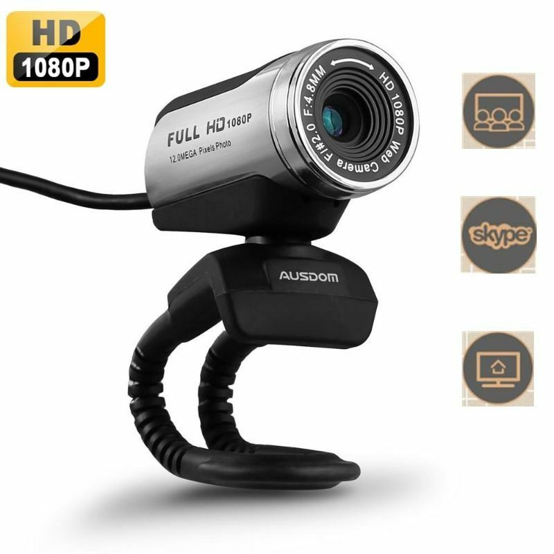AUSDOM AW615 Full HD 1080P USB 2.0 Webcam Web Cam Camera