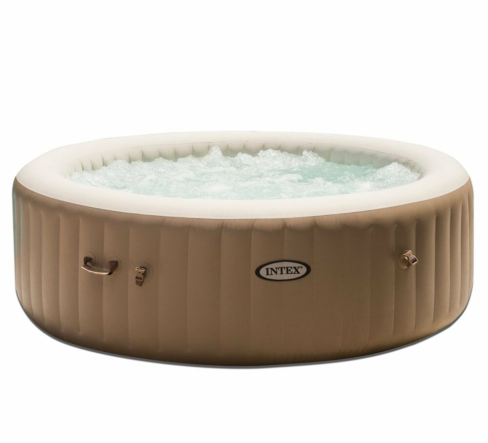 intex inflatable pure spa 6 person portable heated bubble. Black Bedroom Furniture Sets. Home Design Ideas