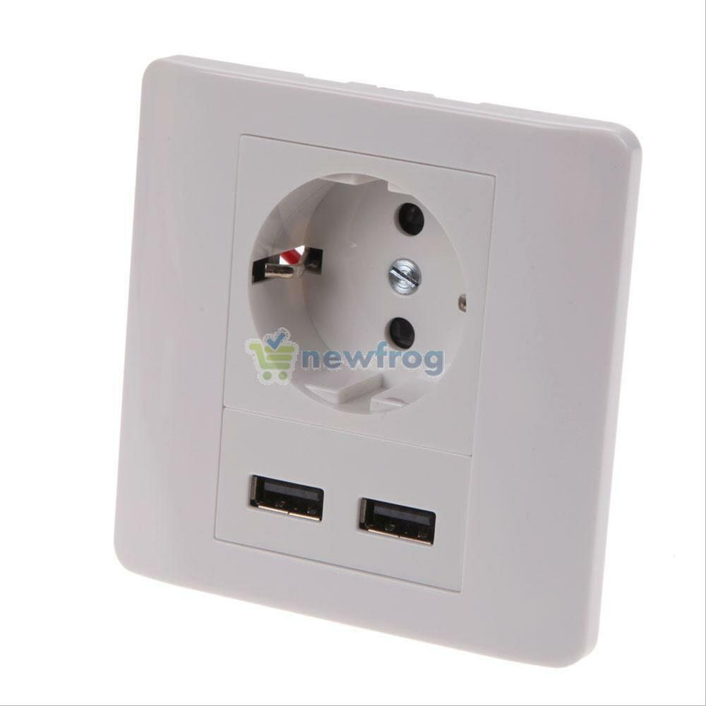 wall socket charger dual usb port station ac power receptacle outlet plate panel ebay. Black Bedroom Furniture Sets. Home Design Ideas