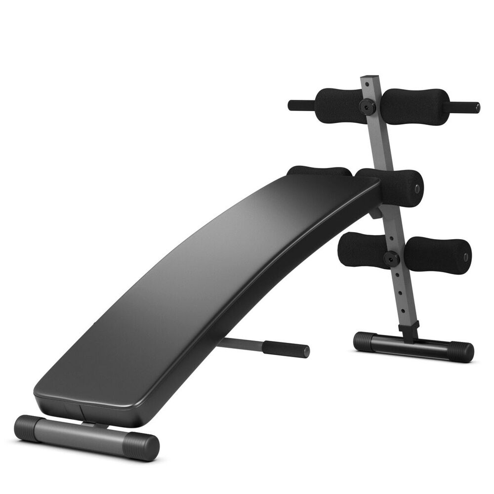 Costway Adjustable Arc Shaped Decline Sit Up Bench Crunch Board Fitness Workout Ebay
