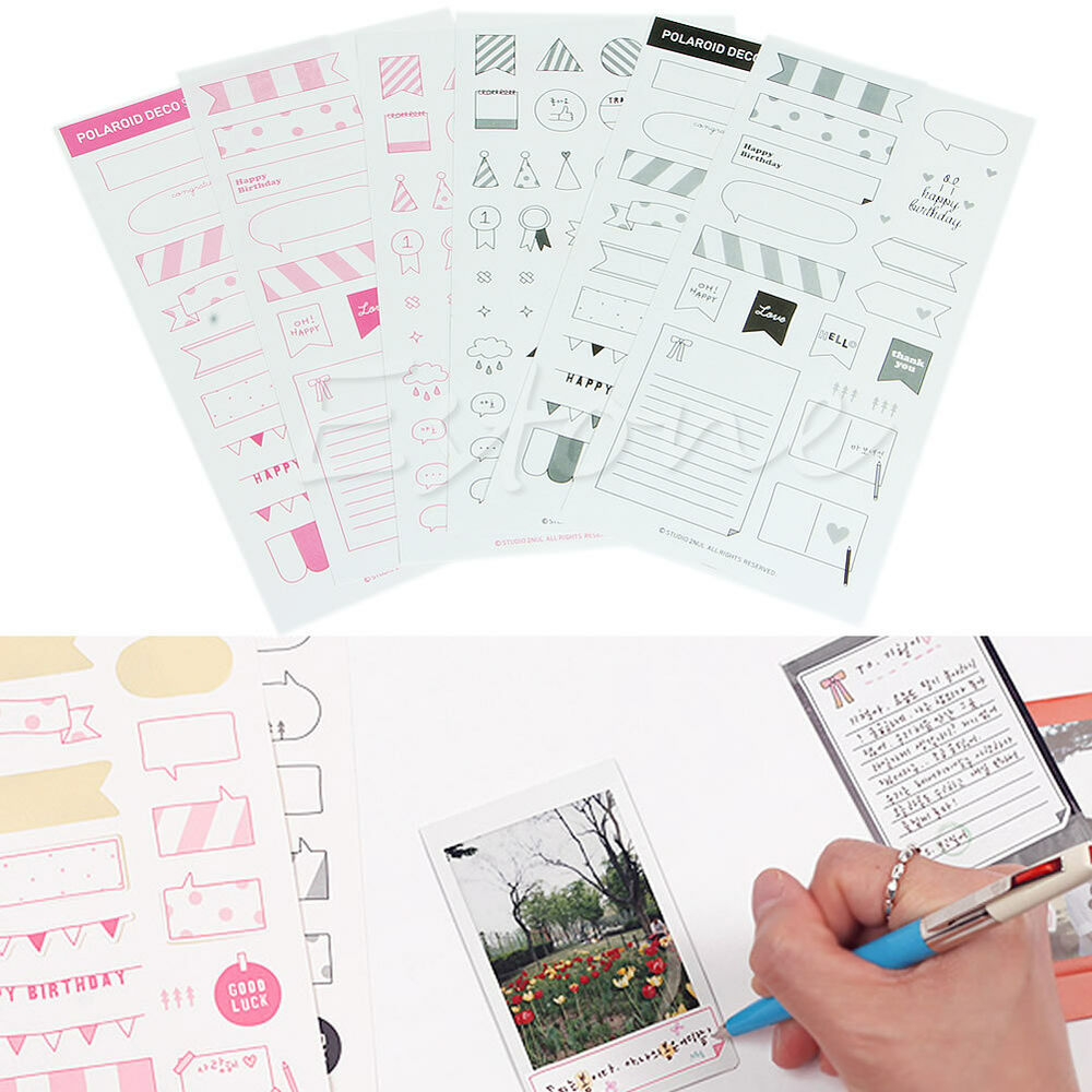 Diy Calendar Diary : Sheets diy calendar paper photo sticker planner diary
