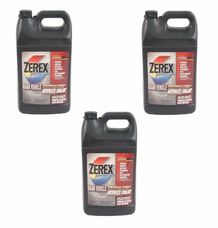 3 Gallons Pack Zerex Engine Coolant Antifreeze Fluid Pink