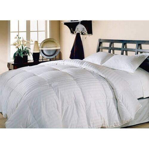 Hotel grand oversized 500 thread count damask stripe white for Hotel design 800 thread count comforter
