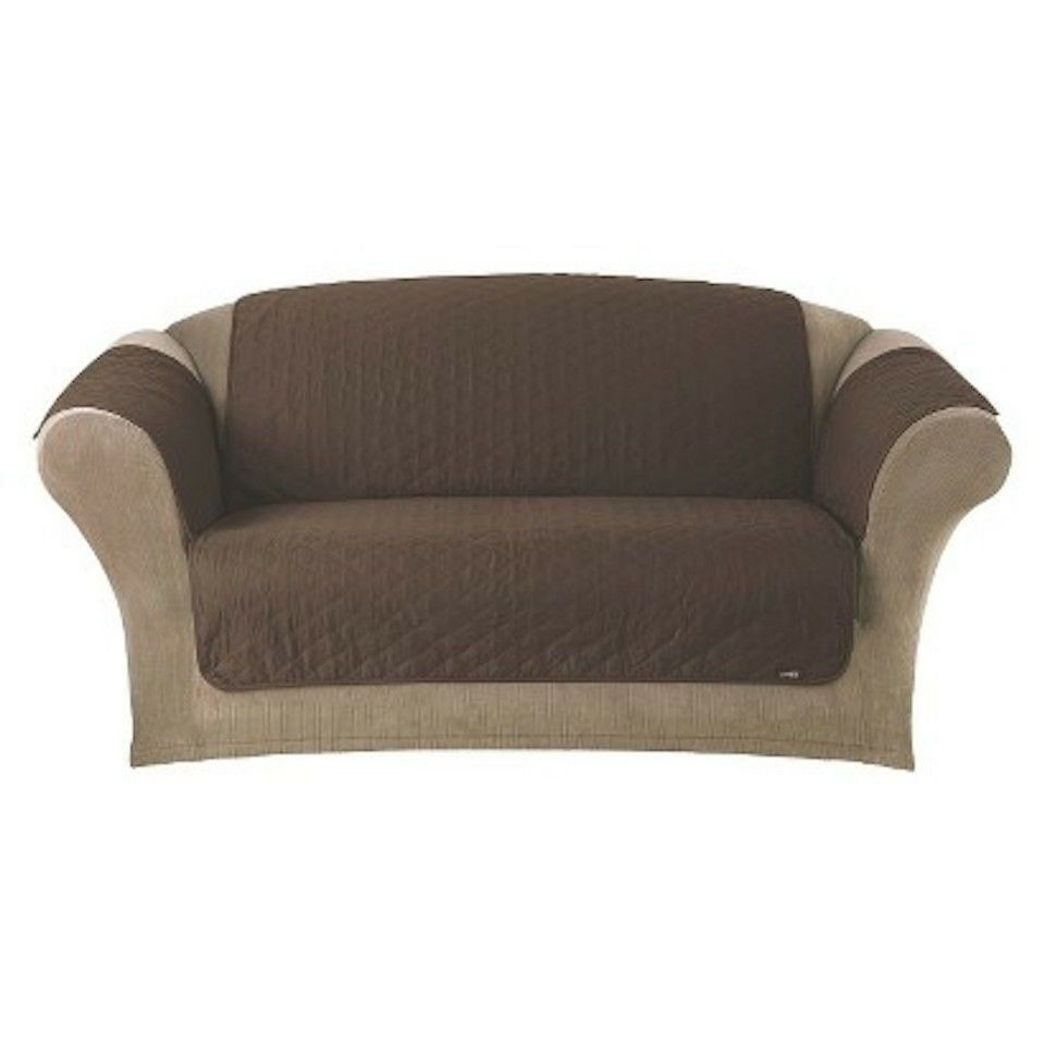 Sure fit cotton loveseat brown chocolate pet pad cover diamond pattern ebay Chocolate loveseat