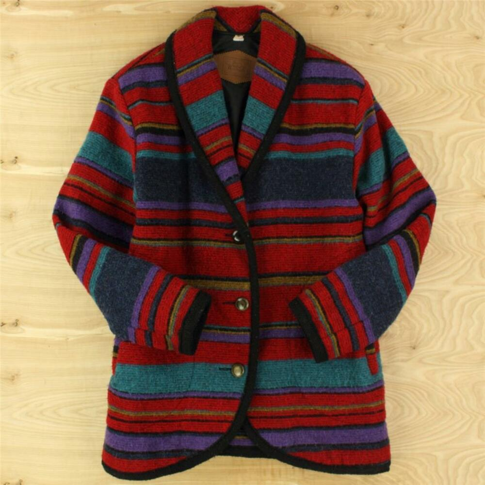 Small Indian Home Design: WOOLRICH Wool Blend Jacket Coat SMALL Indian Blanket