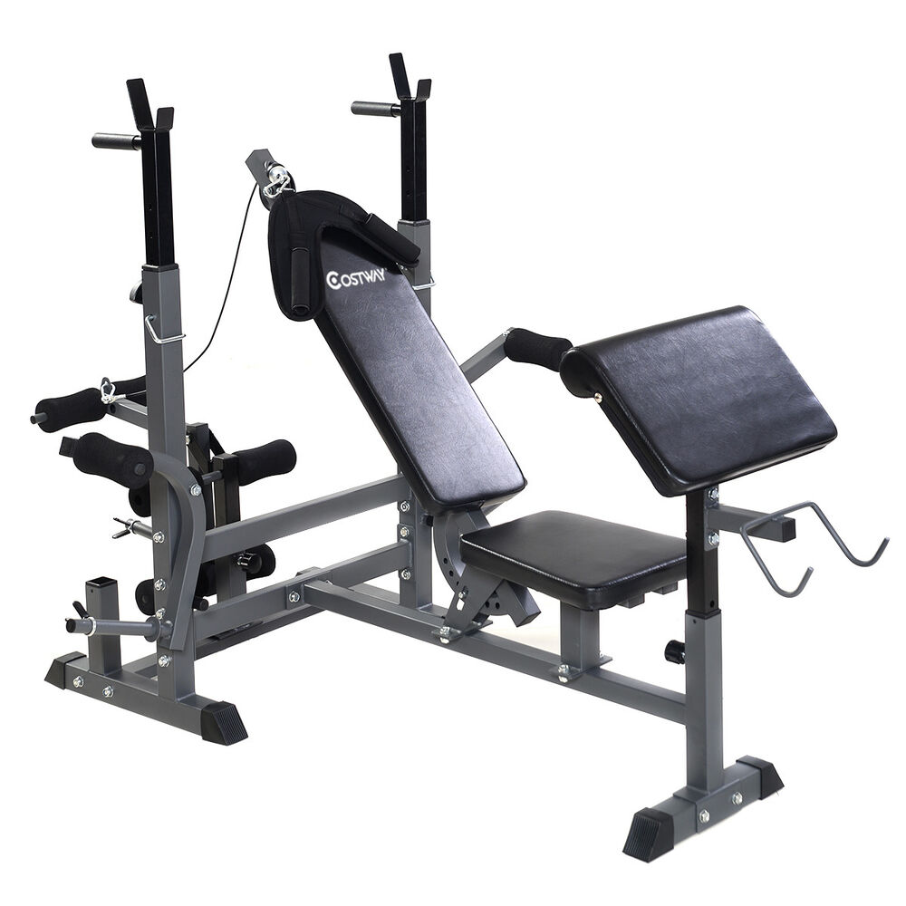 Costway Adjustable Weight Lifting Flat Incline Bench