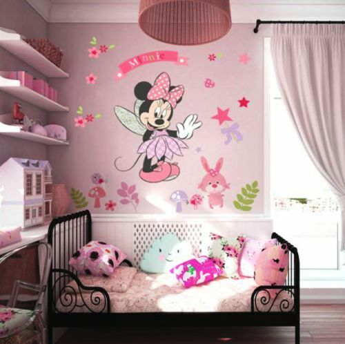 minnie maus wandtattoo wandsticker xxl 88cm x 68cm mickey mouse mq005 ebay. Black Bedroom Furniture Sets. Home Design Ideas