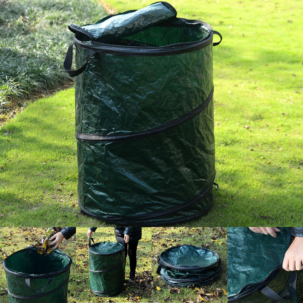 collapsible pop up camp trash can portable outdoor garbage hiking storage new ebay. Black Bedroom Furniture Sets. Home Design Ideas