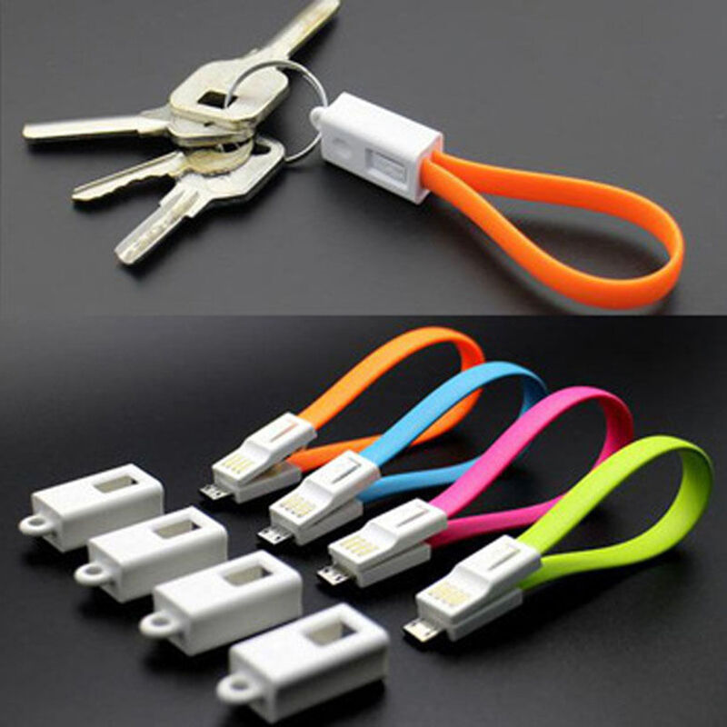 New Keychain Key Ring Micro Usb Charger Data Sync Cable