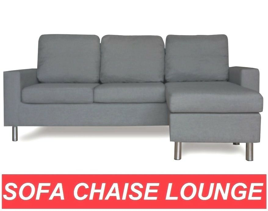 611 Grey Linen Fabric Sofa Couch Lounge Corner Suite