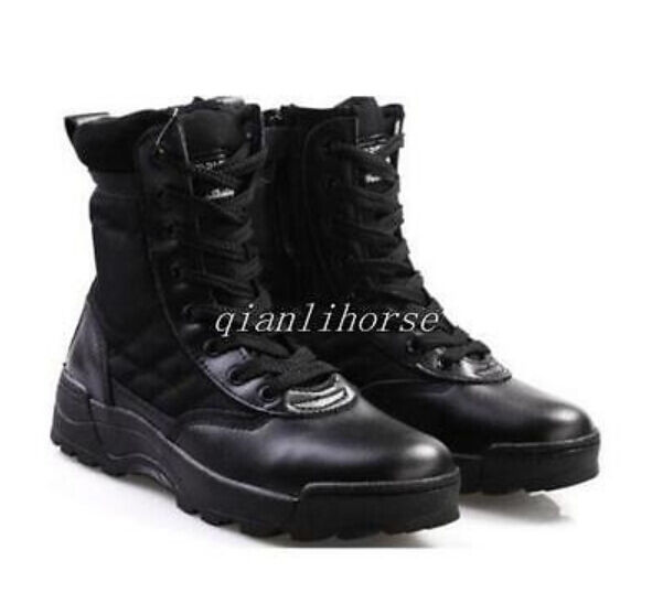 men new army tactical patent leather combat military ankle