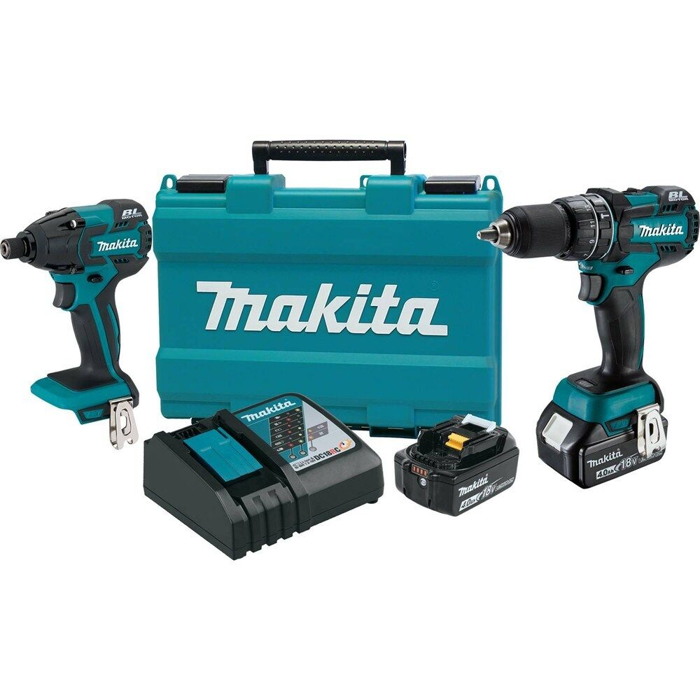 makita 18v lxt lithium ion cordless 2 piece driver drill impact driver combo kit ebay. Black Bedroom Furniture Sets. Home Design Ideas