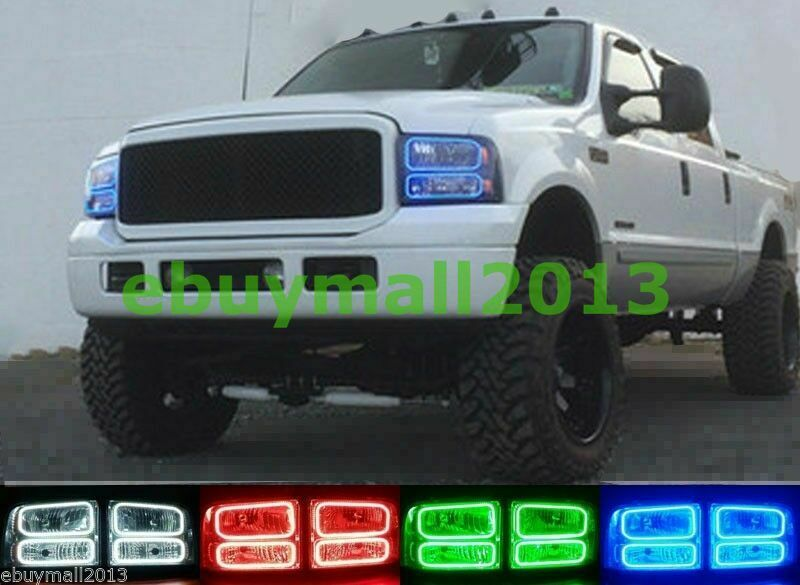 Ford F350 Accessories >> RGB Halo Rings For F250 F350 Multi-Color LED Demon Devil Angel Eyes Remote Refit | eBay