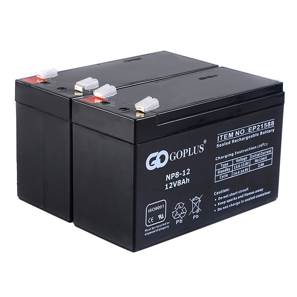 goplus 2 pcs 12v 8ah battery for apc ups adt alarm wheelchair and more new ebay. Black Bedroom Furniture Sets. Home Design Ideas
