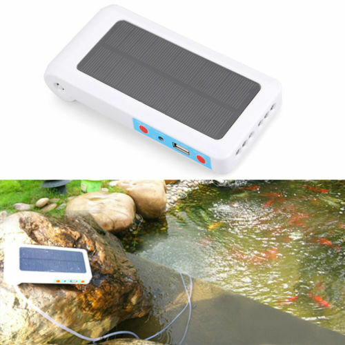 Solar powered portable pool pond fish tank oxygenator for Air pump for fish tank