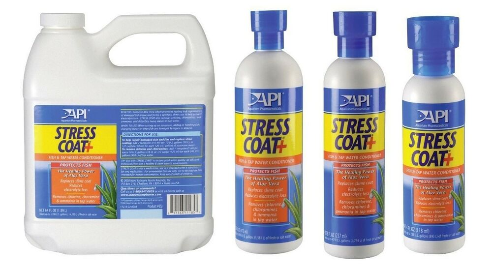 Api stress coat 30ml 118 ml 237 ml 473 ml 1 9l fresh water for Water conditioner for fish