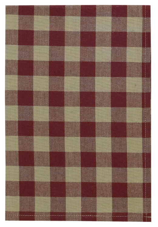 Country Primitive York Wine Buffalo Check Hand Towel