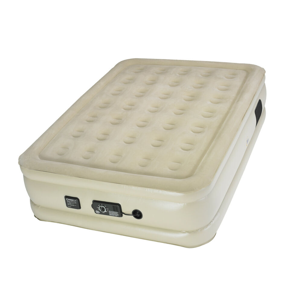 Serta Raised Full Air Bed Mattress With Built In Neverflat