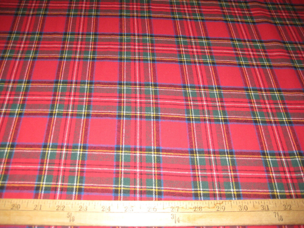 red stewart plaid 100 cotton flannel fabric 58 wide sold by the yard ebay. Black Bedroom Furniture Sets. Home Design Ideas