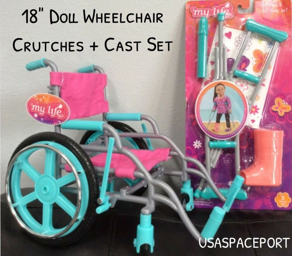 My Life As Wheelchair Crutches Cast Set For 18 Quot American