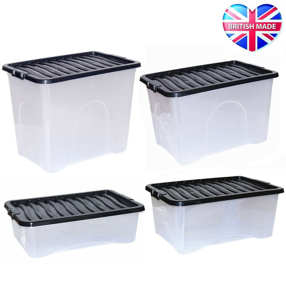 clear plastic boxes large plastic storage clear underbed box strong tough 11038