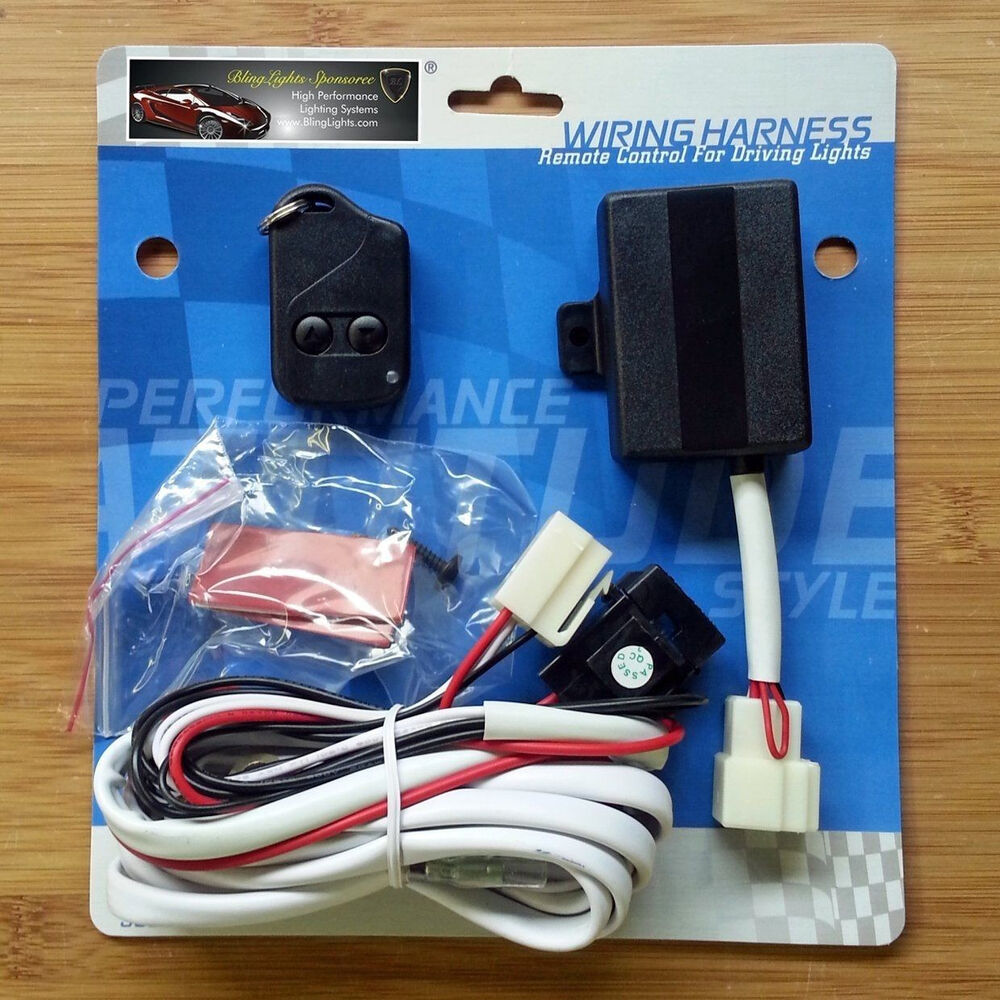 Fog driving lamp kit remote control wireless harness