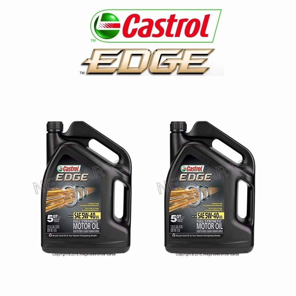 Engine Oil Castrol Edge 5W-40 Synthetic 10 Quart For BMW