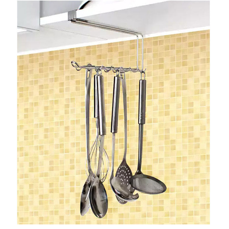 Stainless Cooking Utensils Sink Cabinet Under Rack Ladle