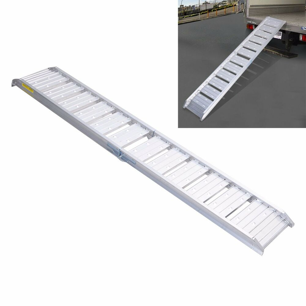 6ft Motorcycle Loading Truck Ramp Aluminum Dirt Bike Foldable Heavy Duty 440lbs Ebay